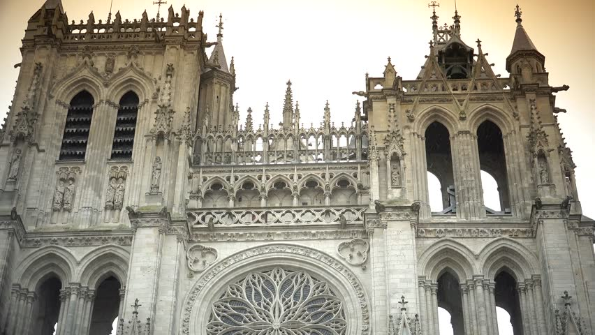 Cathedral Notre-Dame From Amiens Is The Tallest Gothic Church And ...