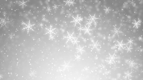 White glitter background - seamless loop, winter theme. VJ Elegant abstract with snowflakes. Christmas Animated Silver Background. loop able abstract background circles.