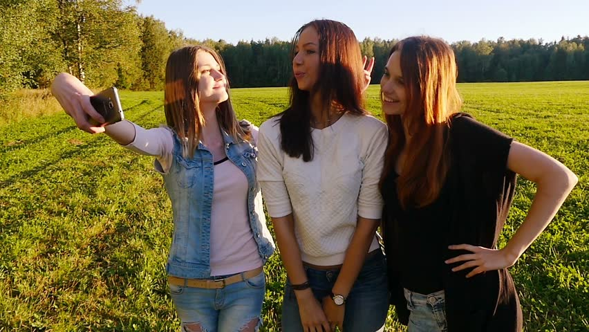 Five Teenage Girls Hug And Hold Up Peace Signs Stock Footage Video 5282855  Shutterstock-7771