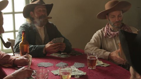 aggression video cowboy gambling