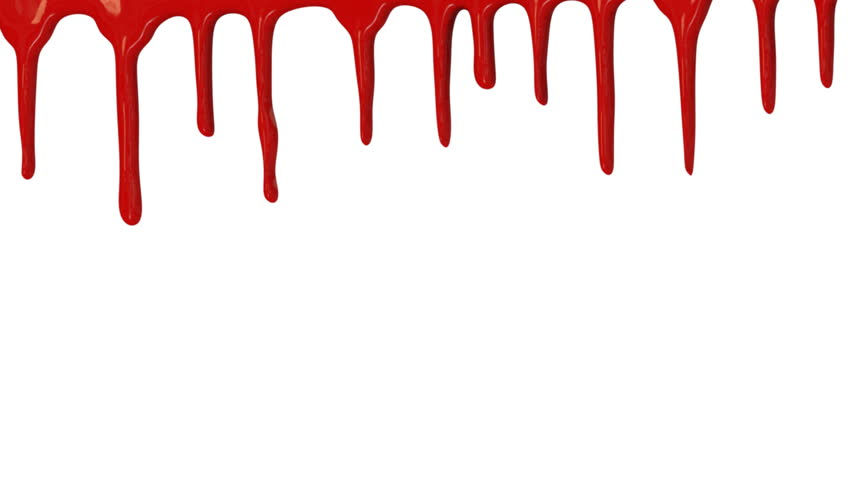 Red Paint Dripping Down Over White Background Stock Footage Video ...
