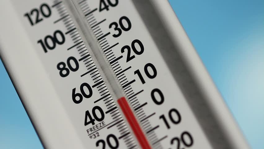 Thermometer, temperature rising