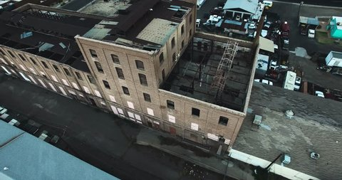 Flying over abandoned factory/warehouse