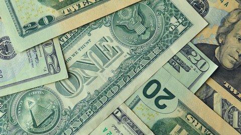 4k Slide Across Us Currency Ends On A Twenty