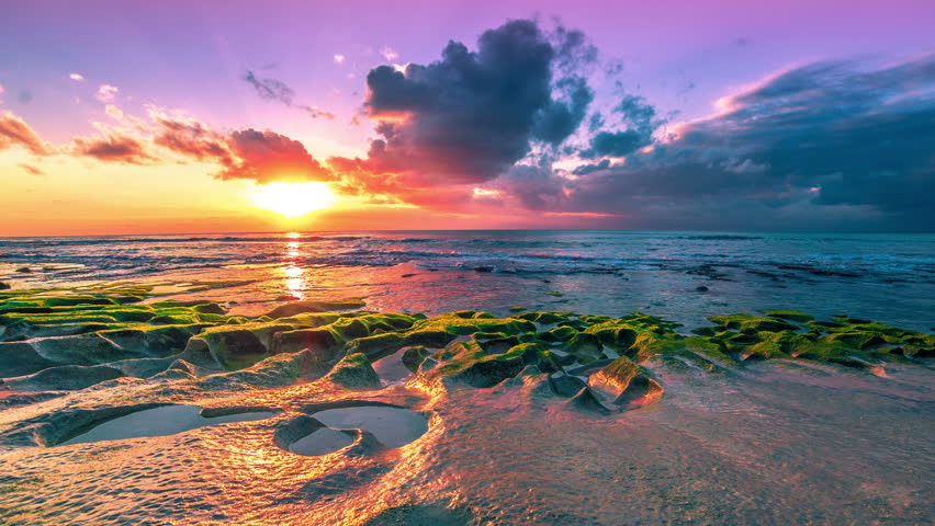 4k Timelapse. Sunset in the Stock Footage Video (100% ...