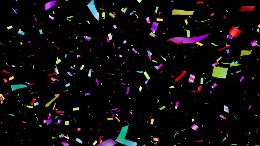 confetti black background stock footage video shutterstock