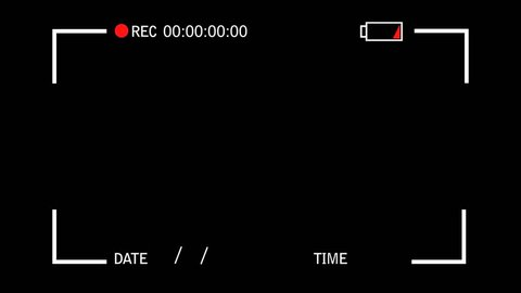 Video Camera Screen Interface