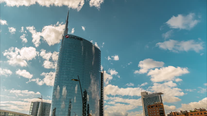 MILAN, ITALY - SEPT 3: Unicredit Tower It is the second tallest building in Italy.