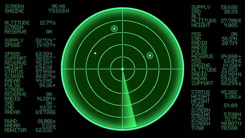 Radar Seamless Loop Stock Footage Video 11803313
