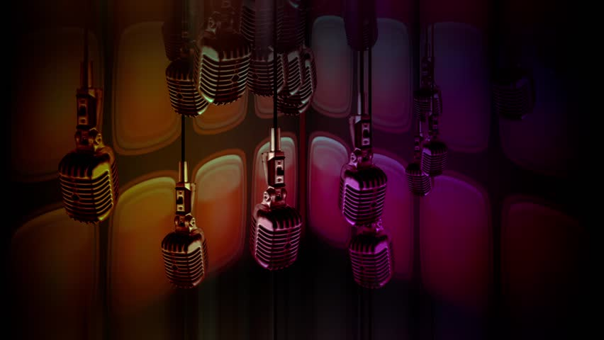 Looped Microphones Old Style retro background for different projects and events!!! | Shutterstock HD Video #11839793