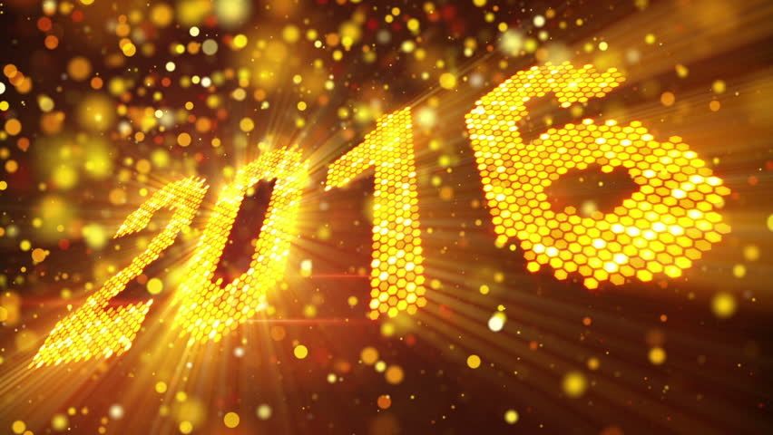 Happy new year 2016 stock footage video shutterstock greeting new year 2016 of shining yellow elements last 10 seconds are loopable m4hsunfo Image collections
