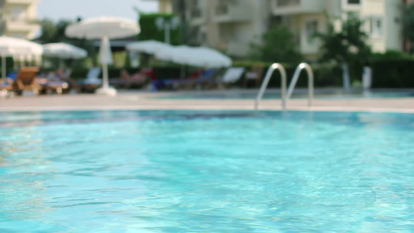 Swimming Pool. Hotel, Summer, Vacation, Sport, Waves, Umbrella, Tourism, Travel, Relax, Resort. Background. HD, Size: 1080p (1920x1080), Sound: No