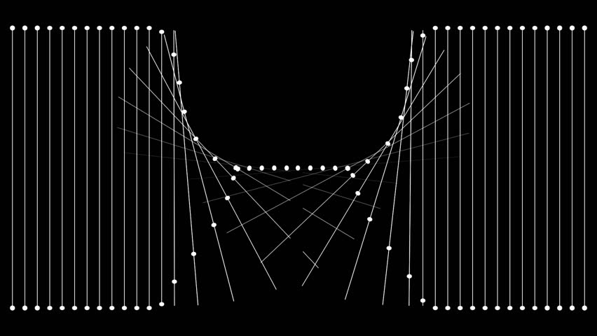 One minute of black and white animation featuring fine lines of 2 pixels thickness and dots creating different shapes. Great for keying or masking!   Shutterstock HD Video #11885537
