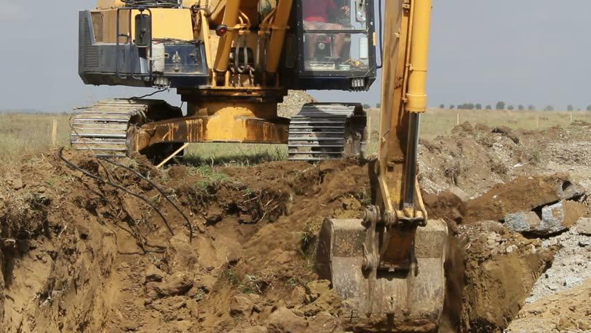Header of excavator