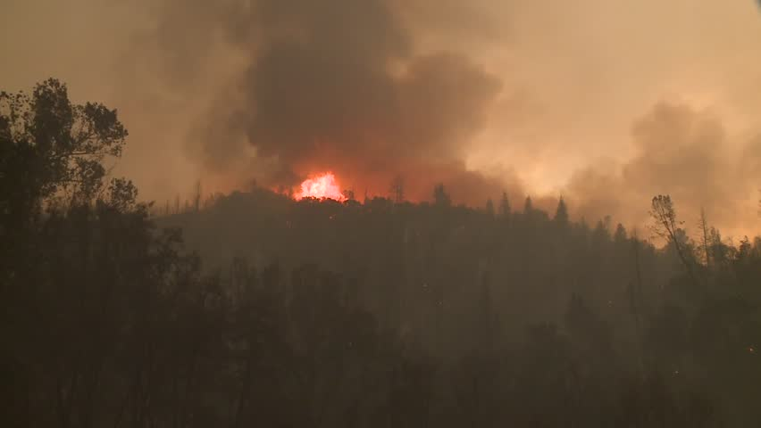 FOREST FIRES OF NORTHERN CALIFORNIA SUMMER 2015 WILD FIRES SMOKE FLAMES FIREFIGHTER CREWS BATTLE THE FIRES DURING THE DRY DROUGHT CONDITIONS HD HIGH DEFINITION STOCK VIDEO FOOTAGE CLIP 1920X1080 | Shutterstock HD Video #11914013
