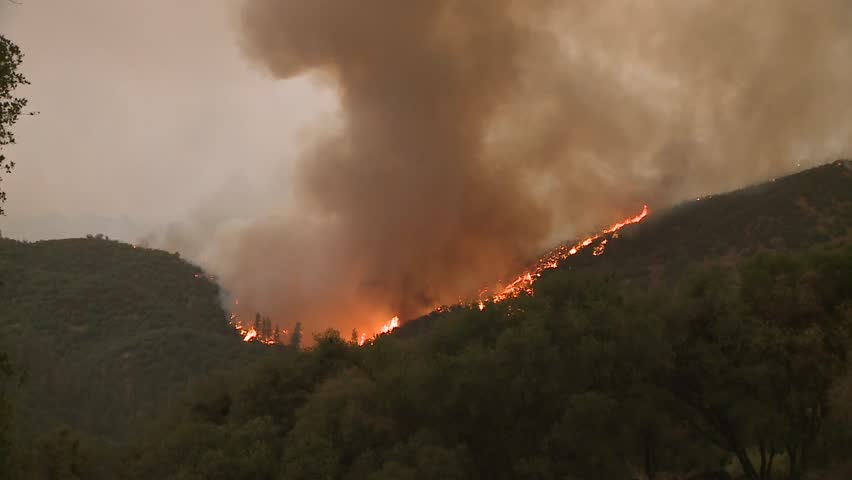 FOREST FIRES OF NORTHERN CALIFORNIA SUMMER 2015 WILD FIRES SMOKE FLAMES FIREFIGHTER CREWS BATTLE THE FIRES DURING THE DRY DROUGHT CONDITIONS HD HIGH DEFINITION STOCK VIDEO FOOTAGE CLIP 1920X1080   Shutterstock HD Video #11914073