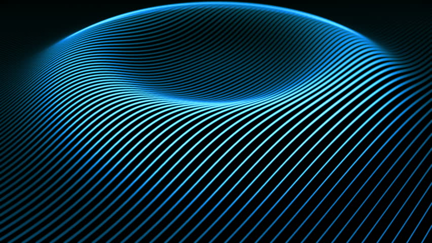 Abstract background with wavy color lines. Animation ripples on surface from neon lines. Animation of seamless loop.    Shutterstock HD Video #11995691