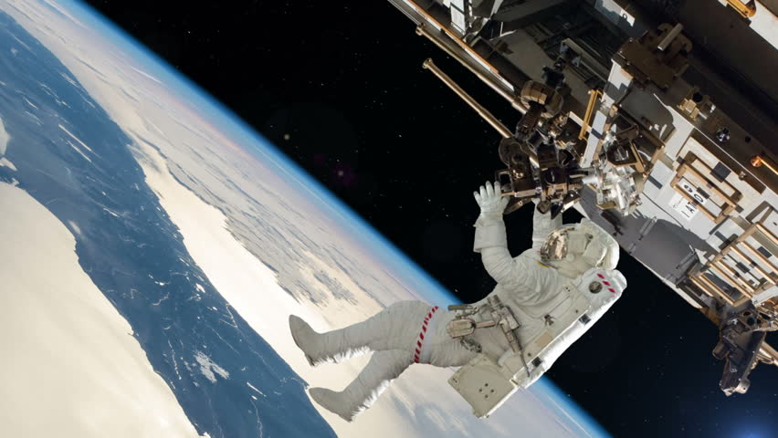 Astronaut On International Space Station. Elements of this image furnished by NASA