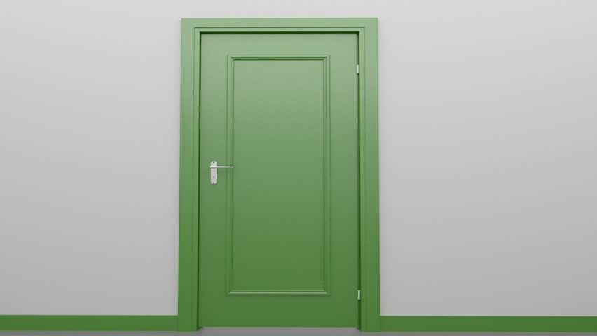 Doors Opening And Closing Looped Animation Moving In The