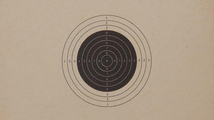 Bullet holes during gun target practice 1 of 2.