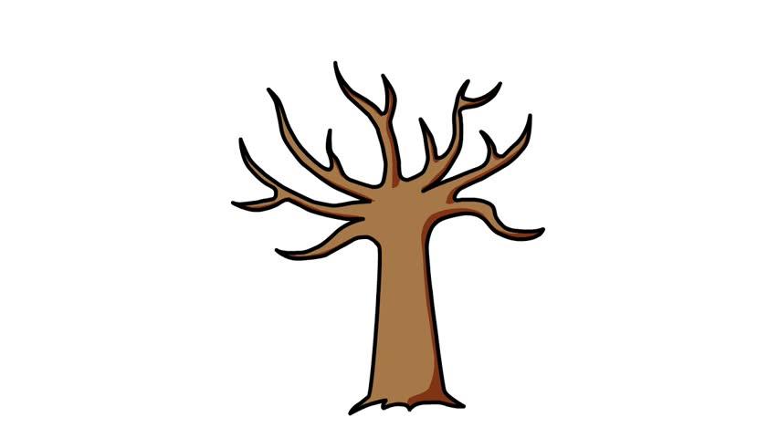 Cartoon Tree Seasons Animation Stock Footage Video (100
