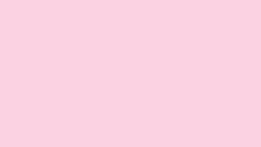 Pink Background With Animated Pastel Colored Egg Shapes