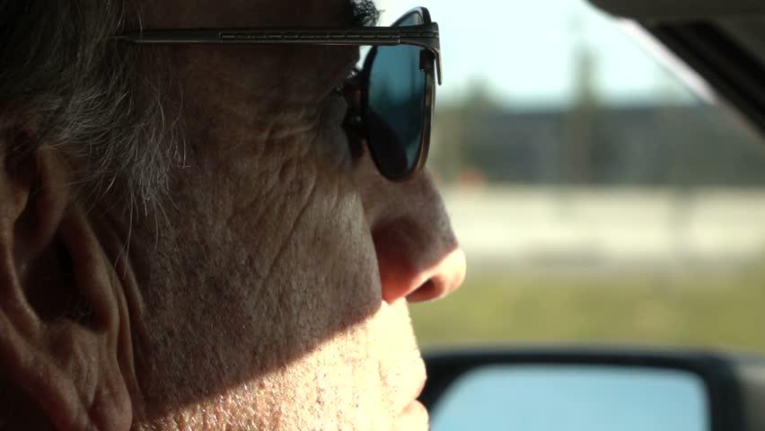 Senior Gentleman Driving - Slow Motion - Closeup | Shutterstock HD Video #12090698