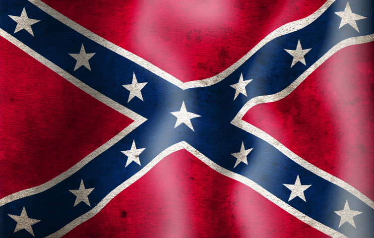 A Close Up Of Confederate Battle Flag Or St Andrews Cross