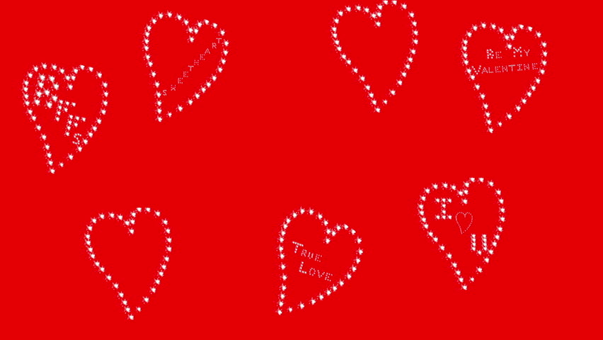 Valentines Day Banner With Sparkling Stock Footage Video 100