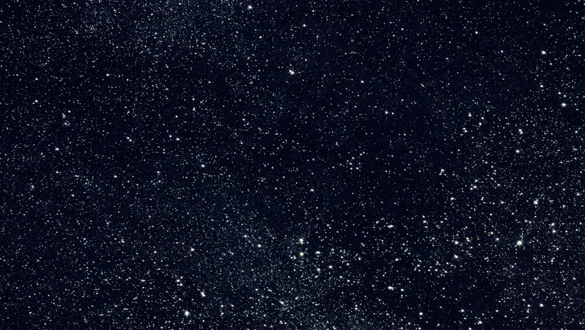 Night sky time lapse. Stars and galaxies moving across the night sky. (av16793c)