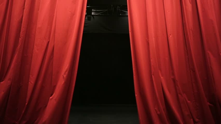 Closing Red Curtain In A Theater Stock Footage Video 12151748 ...