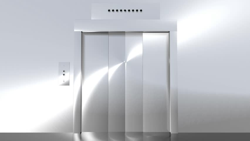 Computer generated animation of a modern elevator going up to green screen. High definition 1080p.   Shutterstock HD Video #1217833