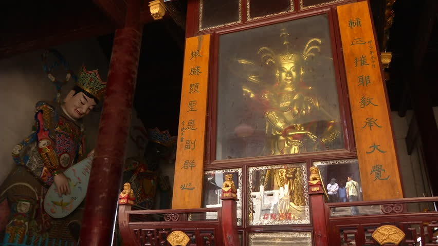 Heavenly Kings And Maitreya Are Honored Inside The Main Temple