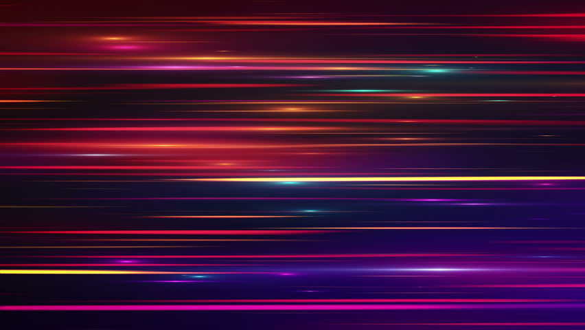 Abstract background with glowing stripes and lines. Animation of seamless loop. | Shutterstock HD Video #12236393