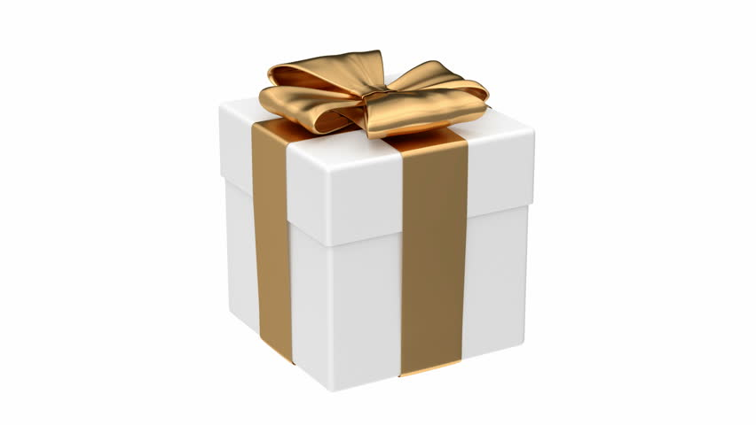 Gift Box 3d Animation With Alpha Mask Stock Footage Video