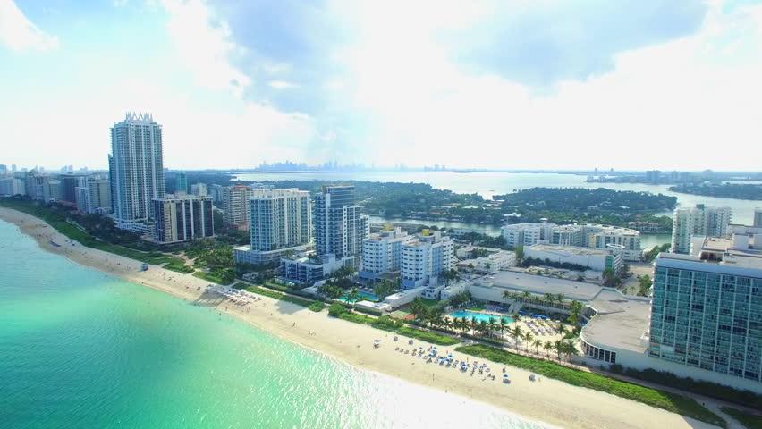 Warm Miami aerial video