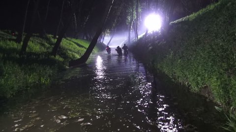 Special forces in night action