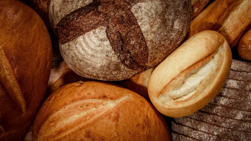 Breads and baked goods close-up 4K ULTRA HD   Shutterstock HD Video #12265373