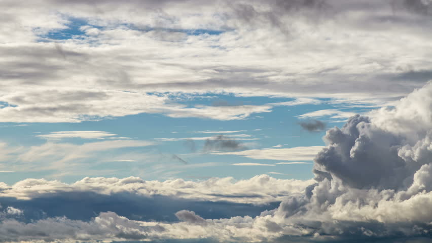 BASEL, SWITZERLAND – August 27, 2015: dynamic clouds with blue sky timelapse | Shutterstock HD Video #12274046