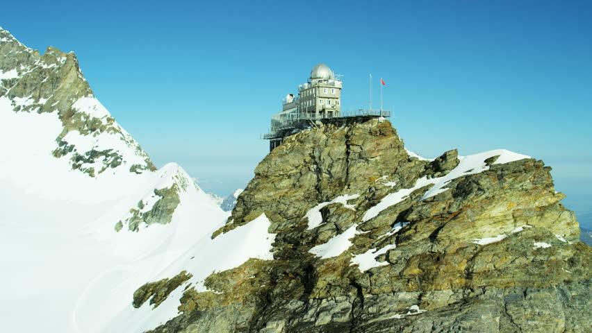 Aerial Switzerland Jungfraujoch Sphinx Observatory Stock Footage Video  (100% Royalty-free) 12291773 | Shutterstock