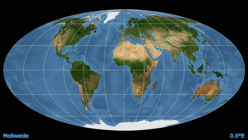 Distortion patterns animated world map in the bonne 25 degree distortion patterns animated world map in the mollweide projection blue marble raster used gumiabroncs Images