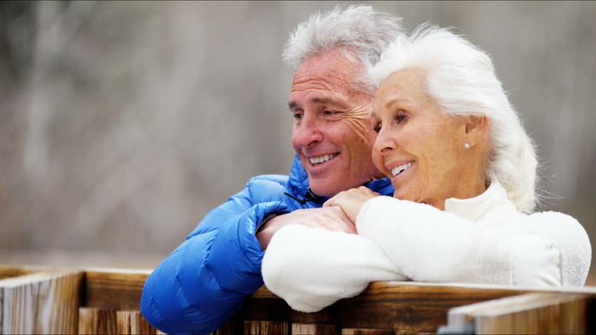 Senior couples swinging