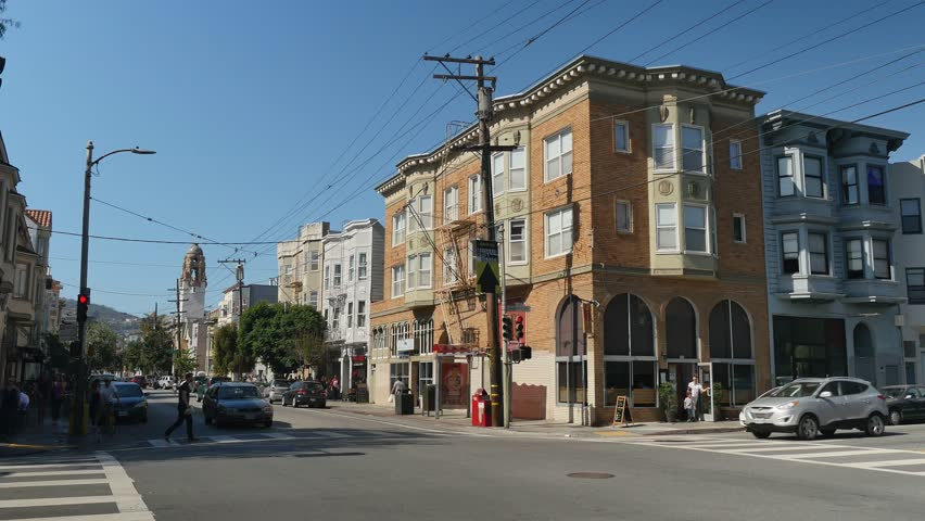 san francisco circa october 2015 a daytime establishing shot of an intersection in - Old Style Houses