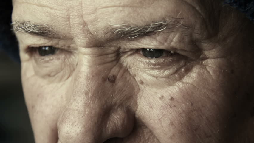 Old man eyes: closeup portrait on elderly man face with blue eyes | Shutterstock HD Video #12397883