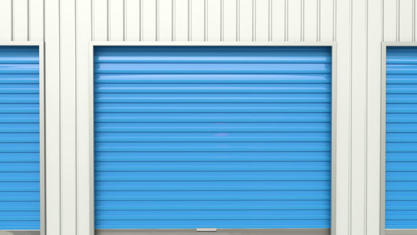 Blue Storage Door Opens. Animation With Mask Included. Stock Footage Video 12423623   Shutterstock  sc 1 st  Shutterstock & Blue Storage Door Opens. Animation With Mask Included. Stock ... pezcame.com