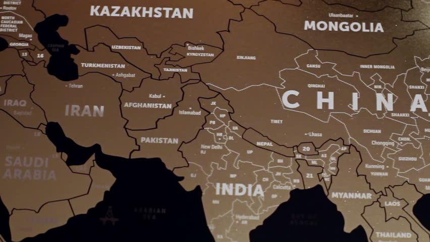 Singapore Map Stock Footage Video Shutterstock - Kazakhstan map hd