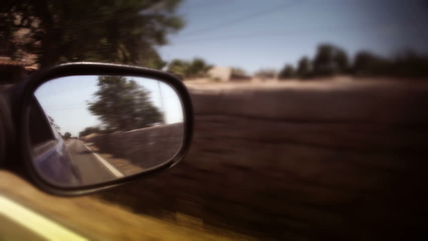 Mirror shot warm from a car | Shutterstock HD Video #1244053