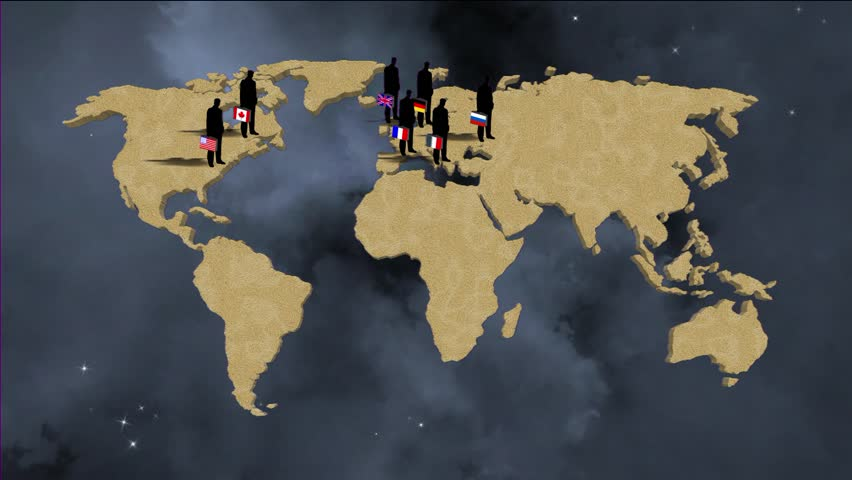 Animation of old vintage political map of world with country animation worldmap background about g8 countries hd stock footage clip gumiabroncs Images
