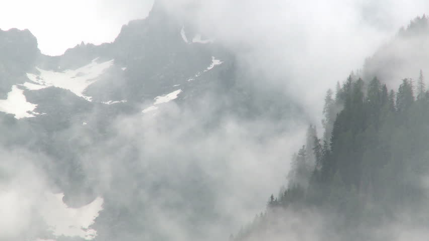 Rain and mist in mountains wilderness | Shutterstock HD Video #12469283