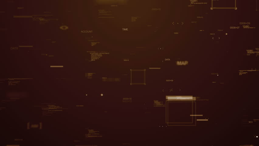 Passing through random elements, digits, arrows and other items  on dark background , loopable | Shutterstock HD Video #12508643